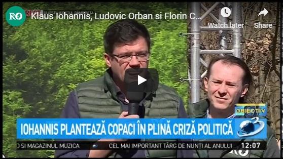 Klaus Iohannis, Ludovic Orban si Florin Citu, participa la cea mai mare campanie de impadurire din Romania