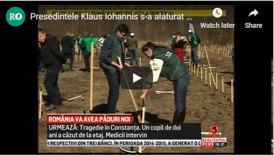 Presedintele Klaus Iohannis s-a alaturat celei mai mari campanii de impadurire din ultimii 10 ani